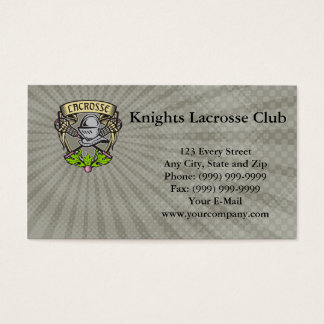 Knights Lacrosse Club Business Card