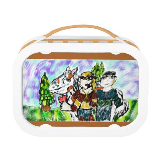 knights love story lunch box