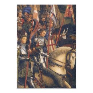 Knights of Christ (Ghent Altarpiece), Jan van Eyck 9 Cm X 13 Cm Invitation Card
