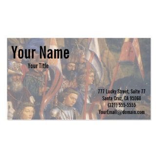 Knights of Christ (Ghent Altarpiece), Jan van Eyck Business Cards