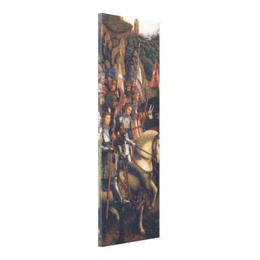 Knights of Christ (Ghent Altarpiece), Jan van Eyck Stretched Canvas Print