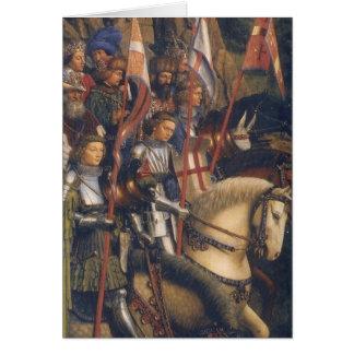 Knights of Christ (Ghent Altarpiece), Jan van Eyck Note Card
