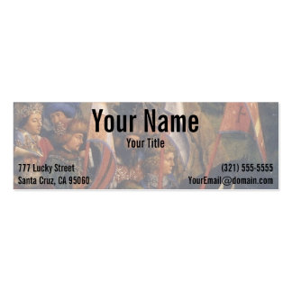 Knights of Christ (Ghent Altarpiece), Jan van Eyck Pack Of Skinny Business Cards