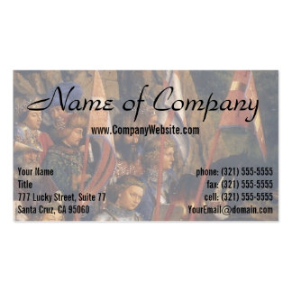 Knights of Christ (Ghent Altarpiece), Jan van Eyck Pack Of Standard Business Cards