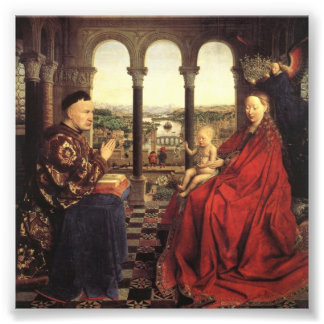 Knights of Christ (Ghent Altarpiece), Jan van Eyck Photo Print