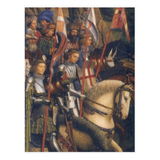 Knights of Christ (Ghent Altarpiece), Jan van Eyck Postcard