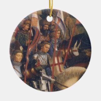 Knights of Christ (Ghent Altarpiece), Jan van Eyck Round Ceramic Decoration
