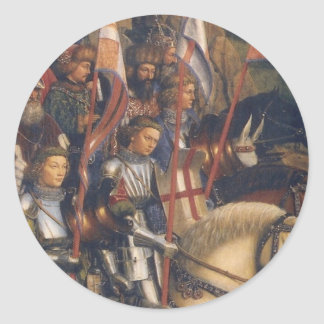 Knights of Christ (Ghent Altarpiece), Jan van Eyck Round Sticker