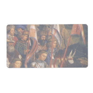 Knights of Christ (Ghent Altarpiece), Jan van Eyck Shipping Label