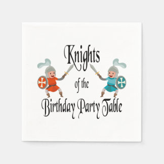 Knights of the Birthday Party Table Disposable Napkins