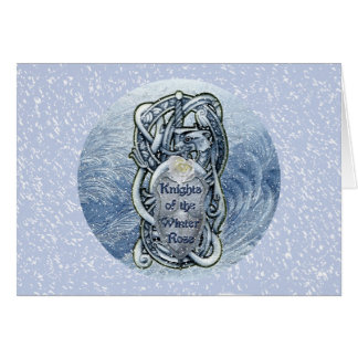 """""""Knights of the Winter Rose"""" greeting card"""