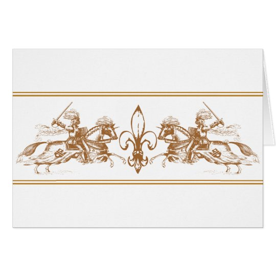 knights on horses card