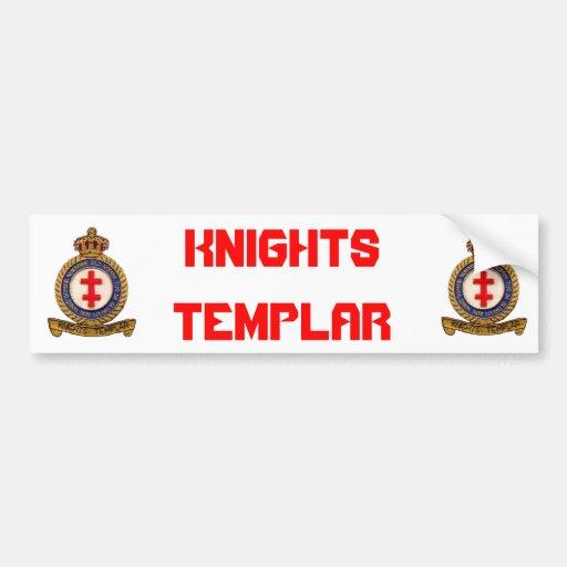 KNIGHTS TEMPLAR BUMPER STICKERS