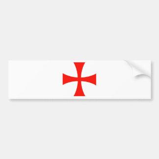 Knights Templar Cross Bumper Sticker