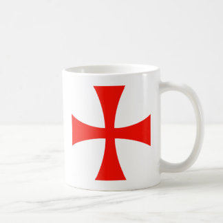 Knights Templar Cross Red Coffee Mug