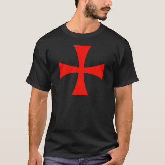 Knights Templar Cross Red T-Shirt