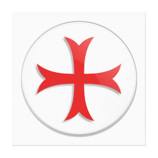 Knight's Templar Cross Symbol Stretched Canvas Print
