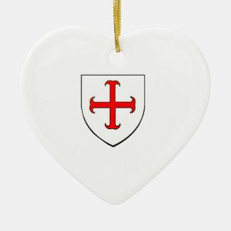 Knights Templar Crusade Shield Ceramic Ornament