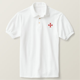 Knights Templar Embroidered Polo Shirt