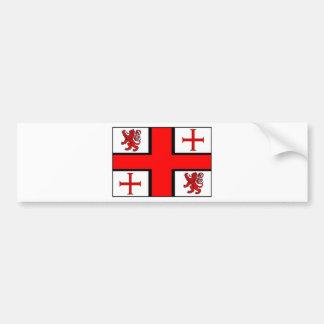 KNIGHTS TEMPLAR FLAG BUMPER STICKER