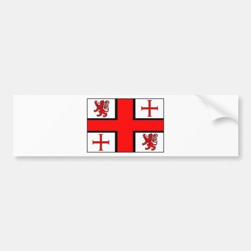 KNIGHTS TEMPLAR FLAG BUMPER STICKERS