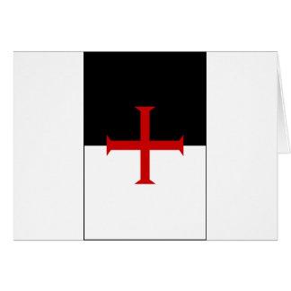 Knights Templar Flag Card