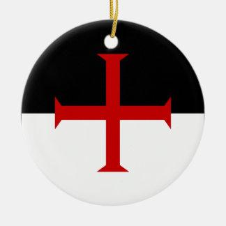 Knights Templar Flag Ceramic Ornament