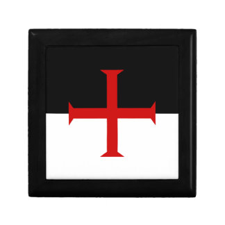 Knights Templar Flag Small Square Gift Box