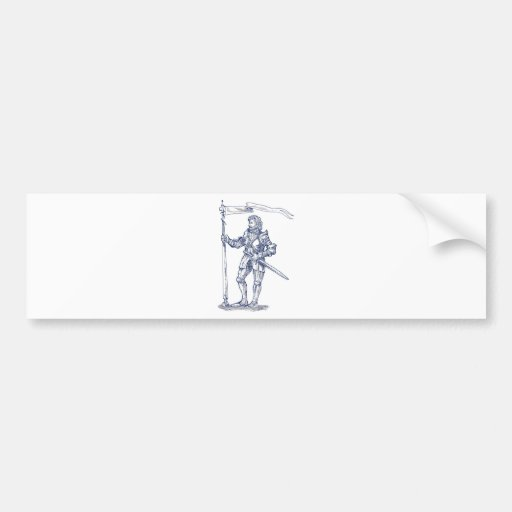 knights templar with sword and shield bumper stickers