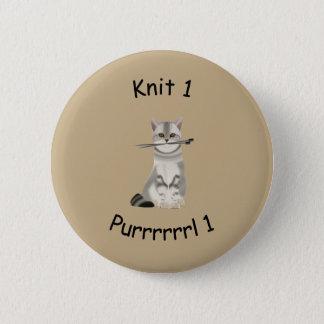 Knit 1 Purrrrl 1 knitting badge