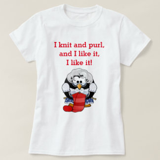 Knit and Purl Penguin T-Shirt