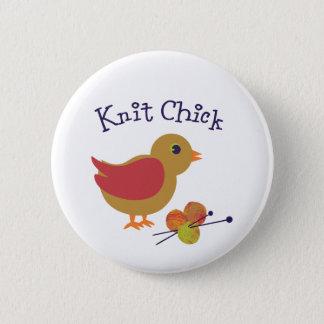 Knit Chick 6 Cm Round Badge