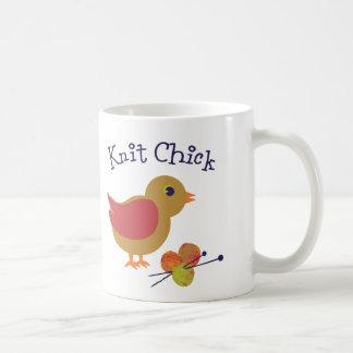Knit Chick Basic White Mug
