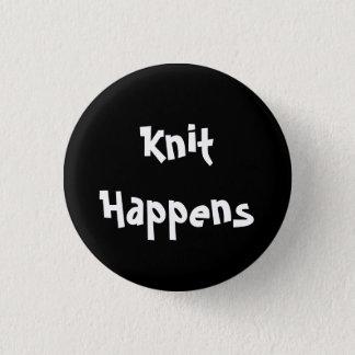 Knit Happens 3 Cm Round Badge