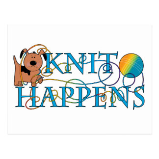 Knit Happens Postcard