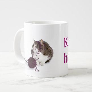 Knit happens extra large mug