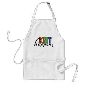 Knit happens standard apron
