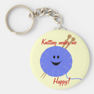 Knit Happy Keychain