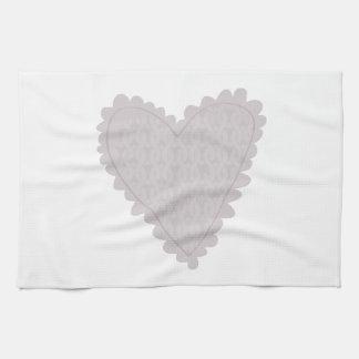 Knit Heart Kitchen Towel