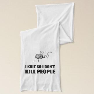 Knit Kill People Scarf