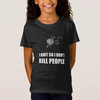 Knit Kill People White T-Shirt