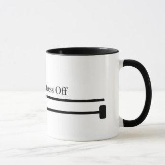 Knit on, stress off mug