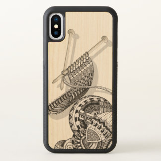 Knit One Doodle Art iPhone X Case