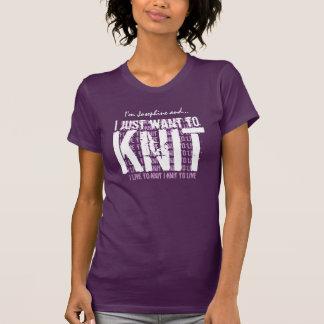KNIT or Any Hobby I knit to live PURPLE V01 T-Shirt