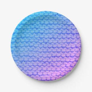 Knit Paper Plates