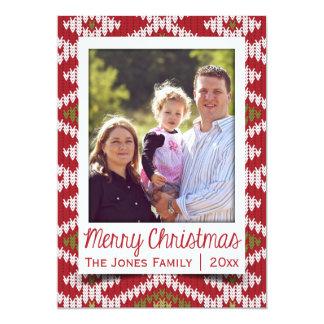 Knit Pattern Photo Holiday Card 13 Cm X 18 Cm Invitation Card