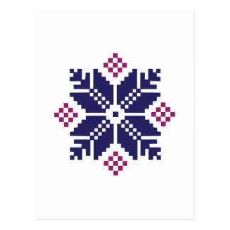 Knit Pattern Postcard