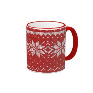knit ringer mug