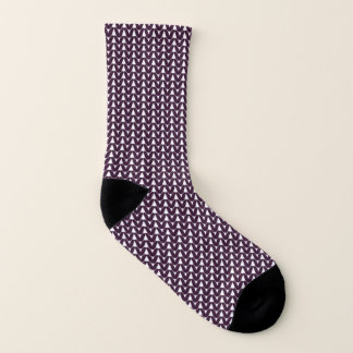 Knit Stockinette Stitch Purple Crafts Print 1