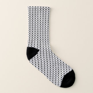 Knit Stockinette Stitch white Crafts Print {Dark} 1
